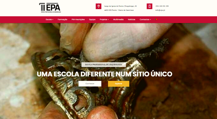 Site Escola Profissional Arqueologia